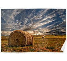 Evening Bales. Poster