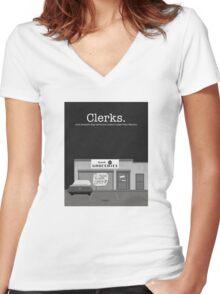 Clerks Women's Fitted V-Neck T-Shirt