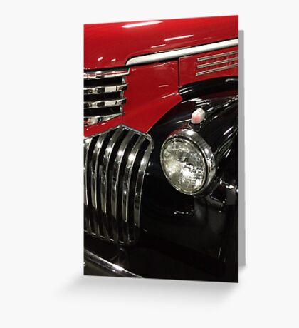 Classic 1946 Chevrolet Pickup Truck profile Greeting Card