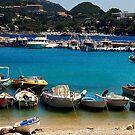 Boats on the seaside of Ionian sea by loiteke