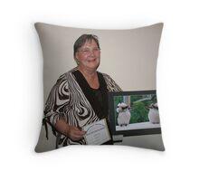 Animalia -Free- winner Joy Norling Throw Pillow