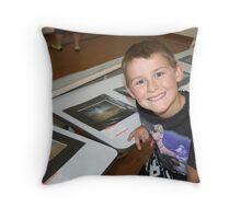 Junior Photographers -B- (2-11 year olds) winner Nicholas McCreary Throw Pillow