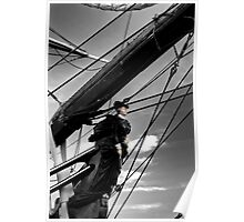 Ship Bow HDR Selective Coloring Poster