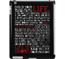 Motivational Quote iPad Case/Skin