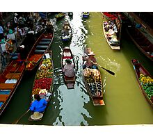 floating market Photographic Print