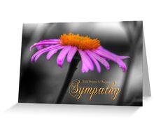 Prayers and Sympathy Purple Orange Coneflower Greeting Card