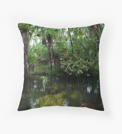 Water Grass Throw Pillow