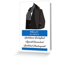 What's in a name? Greeting Card