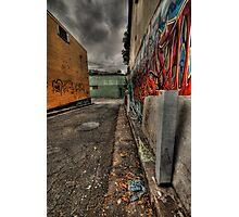 Alleyway Storm Photographic Print