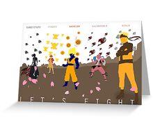 Anime-Big 5 Greeting Card