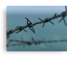 Barbed wire at Petrol cove Victor Harbor Canvas Print