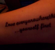 My Birthday Tattoo ....   I DID It Philosophy Lee  !!!!!!! :)   by Naylor