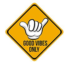 Good Vibes - Shaka Fingers Photographic Print