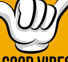 Good Vibes - Shaka Fingers Sticker