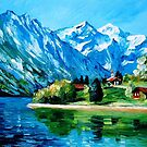 Icy Mountain — Buy Now Link - www.etsy.com/listing/175417187 by Leonid  Afremov
