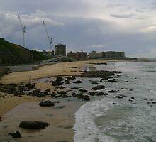 South Newcastle Beach by reflector