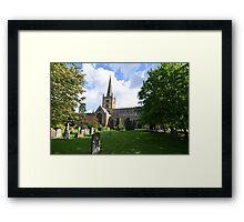 Stratford on Avon--Holy Trinity Church Framed Print