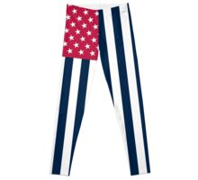 Inverted American Flag Leggings Leggings