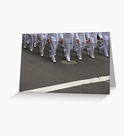 Marching Greeting Card