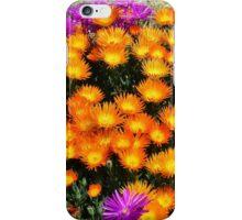 Purple and Orange Ice Plant FLOWER POWER iPhone Case/Skin