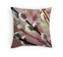 Catkin  Throw Pillow