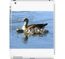 EGYPTIAN GOOSE AND TEN CHICKS iPad Case/Skin