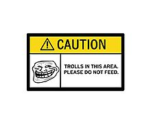 Caution - Trolls Photographic Print