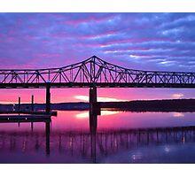 Riverfront Sunrise #1 Photographic Print