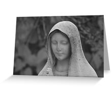 Statue of the Virgin Mary Greeting Card