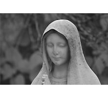 Statue of the Virgin Mary Photographic Print