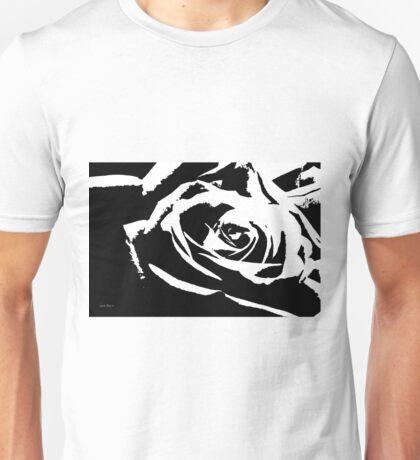 Artsy Black And White Rose  Unisex T-Shirt