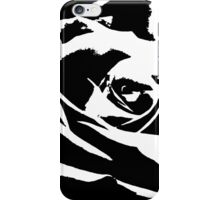 Artsy Black And White Rose  iPhone Case/Skin