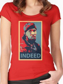 Omar The Wire Indeed Women's Fitted Scoop T-Shirt