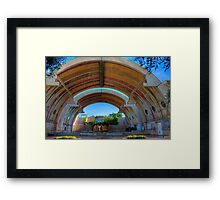 The Vaults of Arcosanti Framed Print