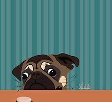 Le pug et le macaron by Martha Lilia Guzmán