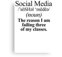 Social Media Definition Canvas Print