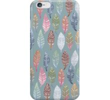 Tribal Feathers on Blue iPhone Case/Skin