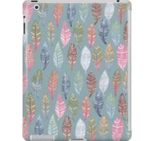 Tribal Feathers on Blue iPad Case/Skin