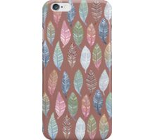 Tribal Feathers on Red iPhone Case/Skin