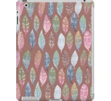 Tribal Feathers on Red iPad Case/Skin