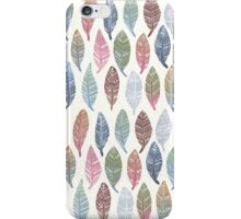Tribal Feathers on Cream iPhone Case/Skin