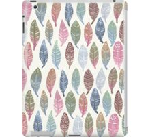 Tribal Feathers on Cream iPad Case/Skin