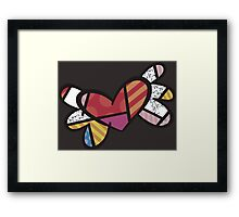 Romero Britto The Winged Heart Framed Print