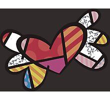 Romero Britto The Winged Heart Photographic Print