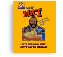 Mr. T Cereal  Canvas Print