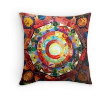 Mandala, Star Gate Throw Pillow