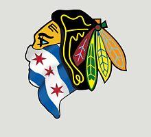 Blackhawks Chicago Flag Unisex T-Shirt