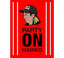 Party On Hawks! Photographic Print