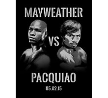 Mayweather VS Pacquiao 2015 Photographic Print