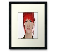 Hayley Williams digital oil pastel Framed Print